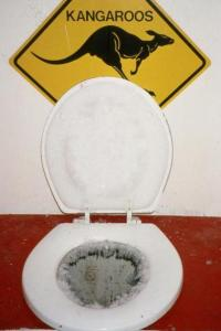 "All you have to do if your kids complain about a cold toilet seat is show them this one.  ""When I was your age..."""