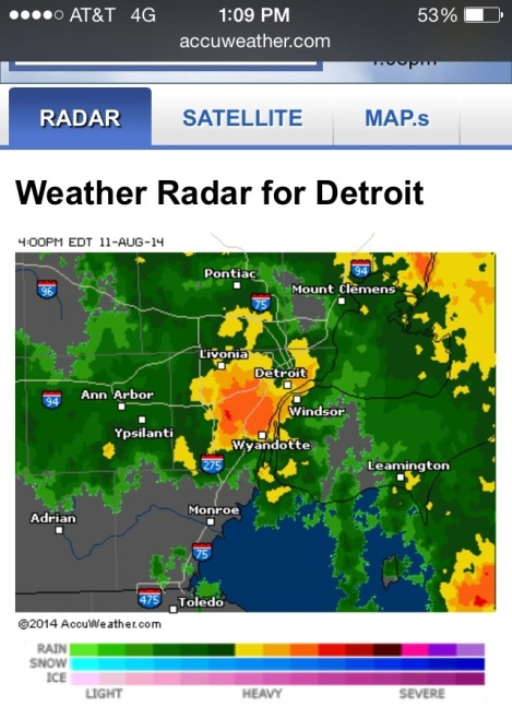 The storm in Detroit